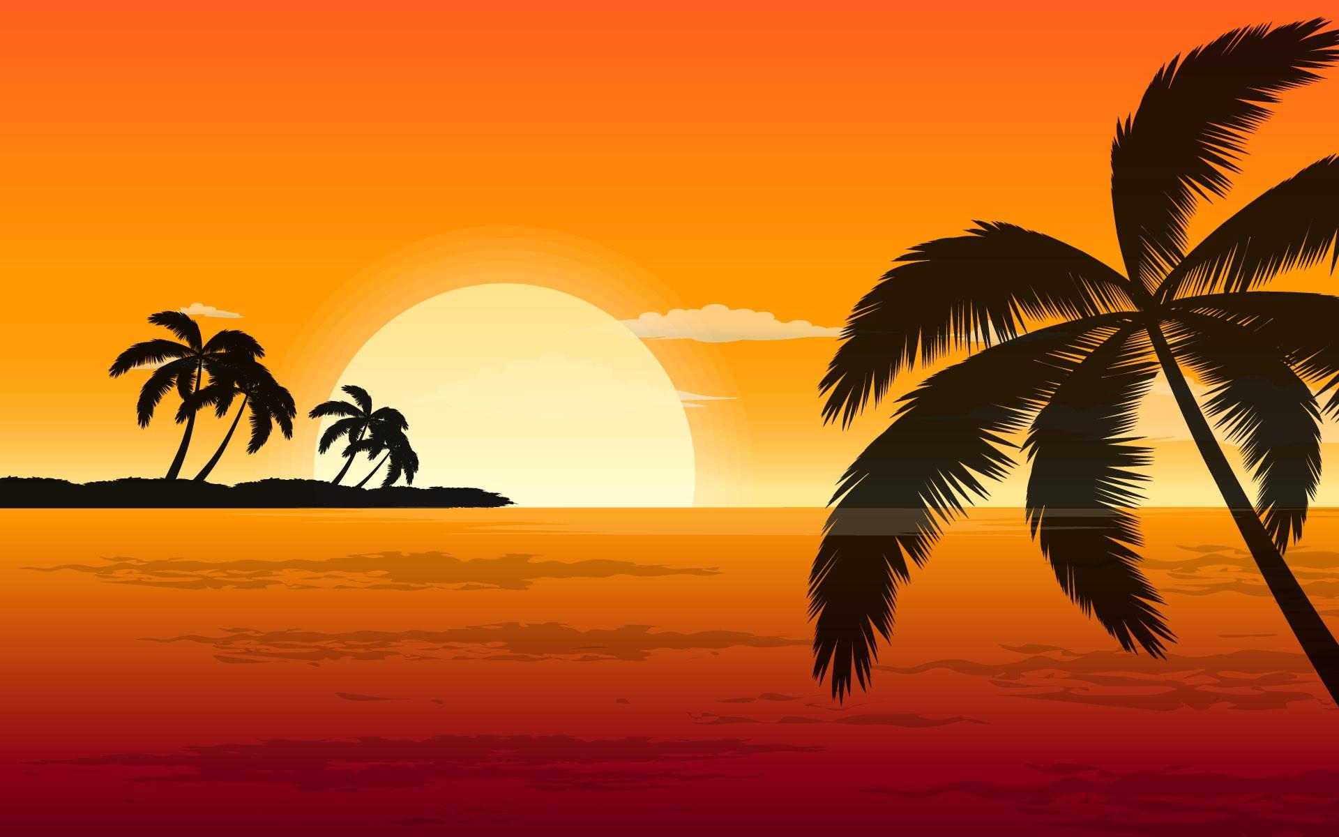Palm Tree Art Desktop Wallpaper 49771 1920x1200 px ~ HDWallSource.com