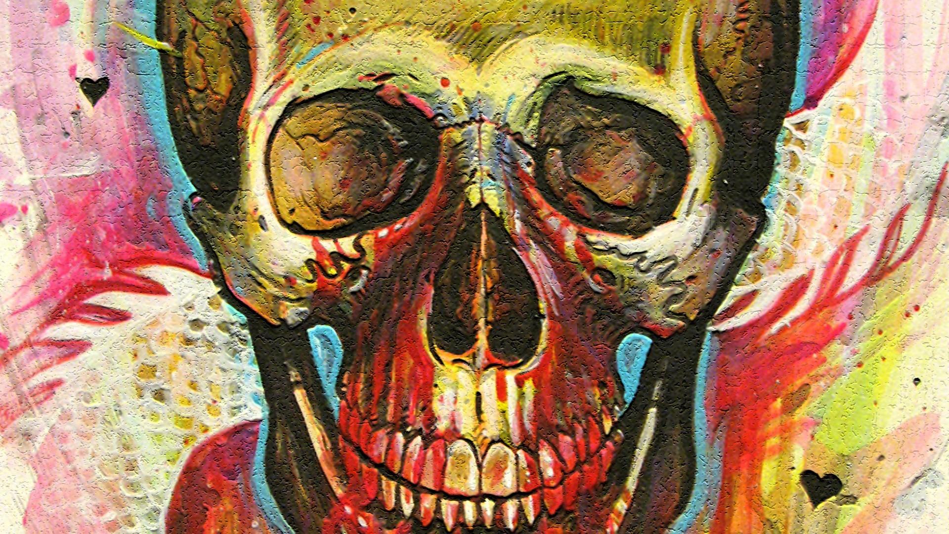 Psychedelic Skull Wallpaper 50042