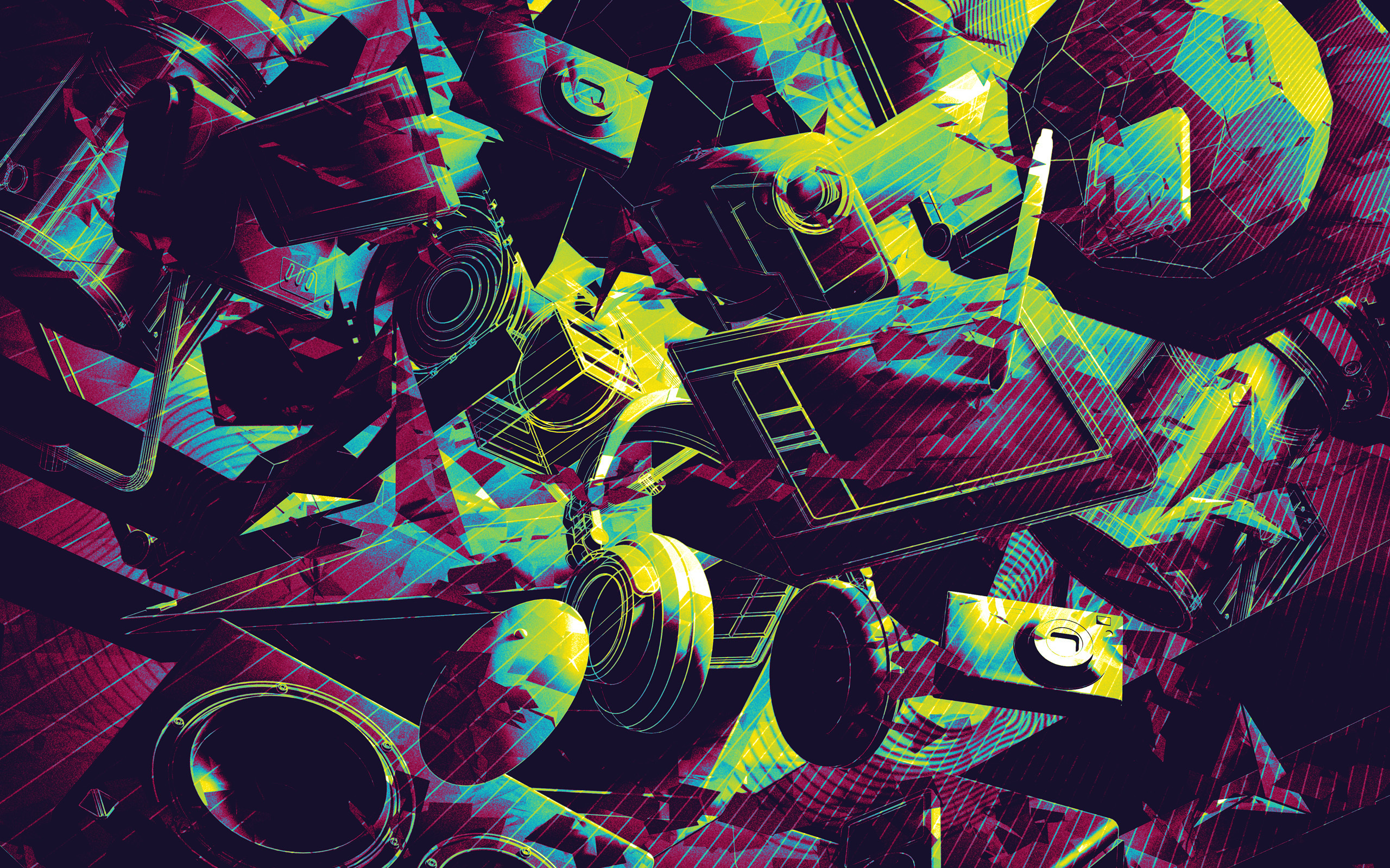 psychedelic wide wallpaper 50039