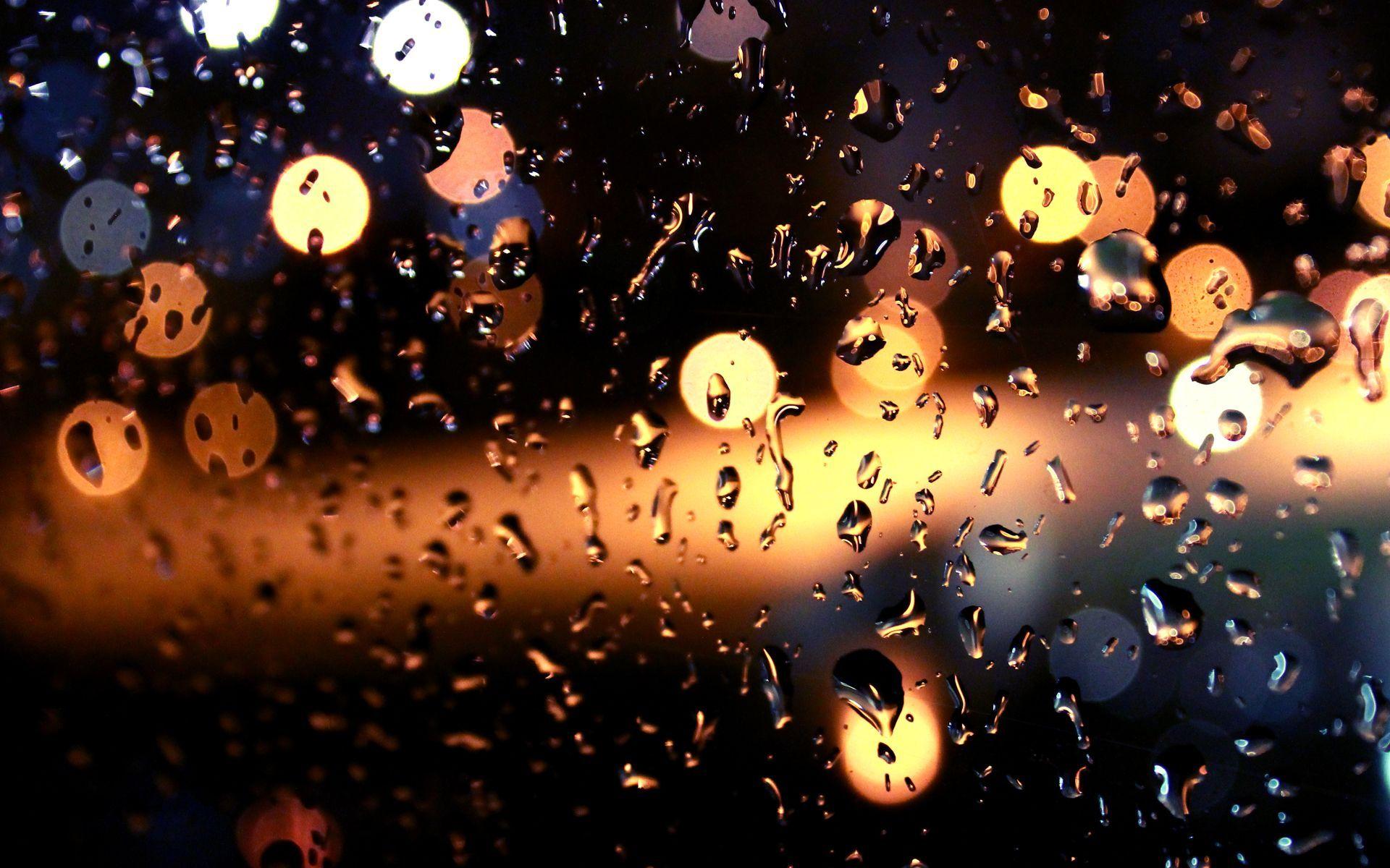 raindrops window lights wallpaper hd 50542