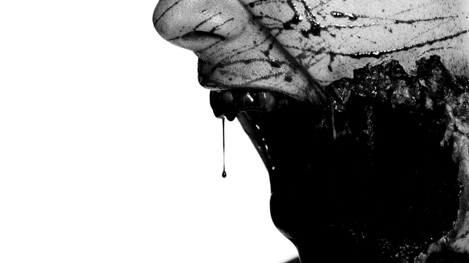 scary zombie face desktop wallpaper 52290