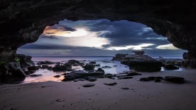 Beach Cave Desktop Wallpaper 52605