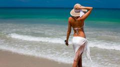 Beach Vacation Woman Wallpaper 50441