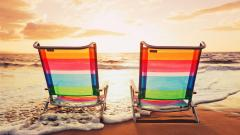 Colorful Beach Chairs Wallpaper 50277