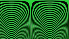 Green Optical Illusion Widescreen Wallpaper 49028