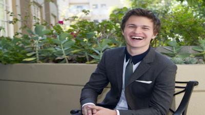 Happy Ansel Elgort Wide Wallpaper 55705