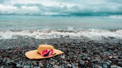 Hat On Beach Wallpaper 49853