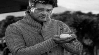 Monochrome Karl Urban Wallpaper 56436