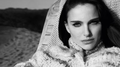 Monochrome Natalie Portman Wallpaper 52221