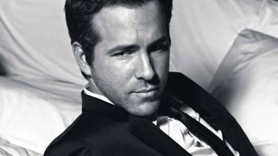 Monochrome Ryan Reynolds Wallpaper 53085