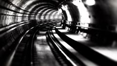 Monochrome Tunnel Wallpaper 50239