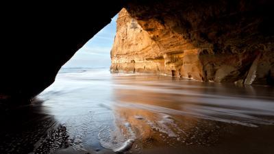 Ocean Cave Widescreen Wallpaper 52612