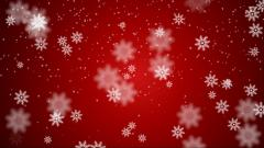 Red Snowflake Wallpaper 49060