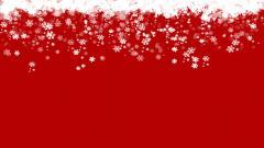 Red Snowflake Widescreen Wallpaper 49061