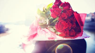 Rose Flower Bouquet Widescreen Wallpaper 52256