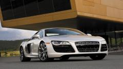 Silver Audi R8 Desktop Wallpaper 49361