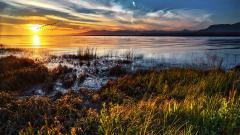 Sunset Lake Landscape Wallpaper 49047