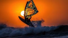 Windsurfing Sunset Wallpaper 49051