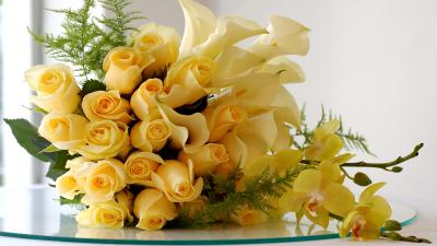 Yellow Flower Bouquet Wallpaper 52252