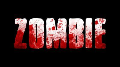 Zombie Text Desktop Wallpaper 52283