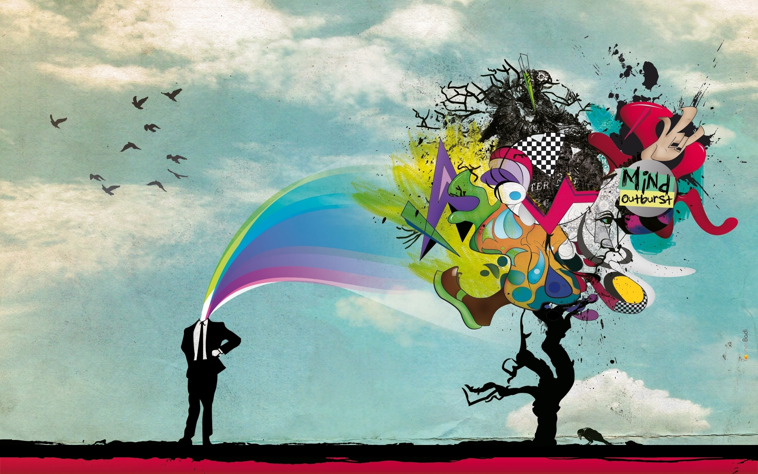 trippy mind wallpaper background 50036