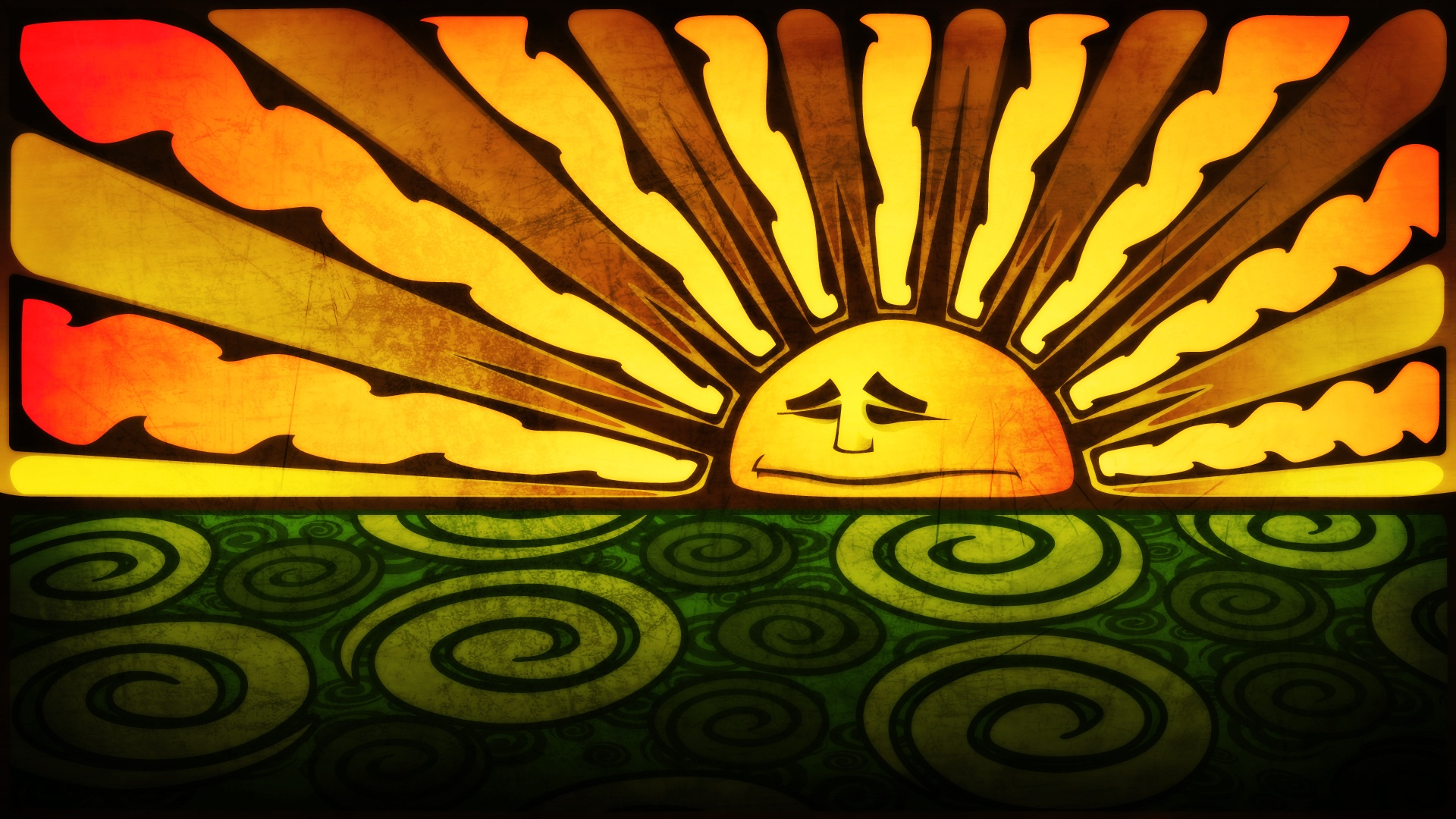 trippy sun desktop wallpaper 50031