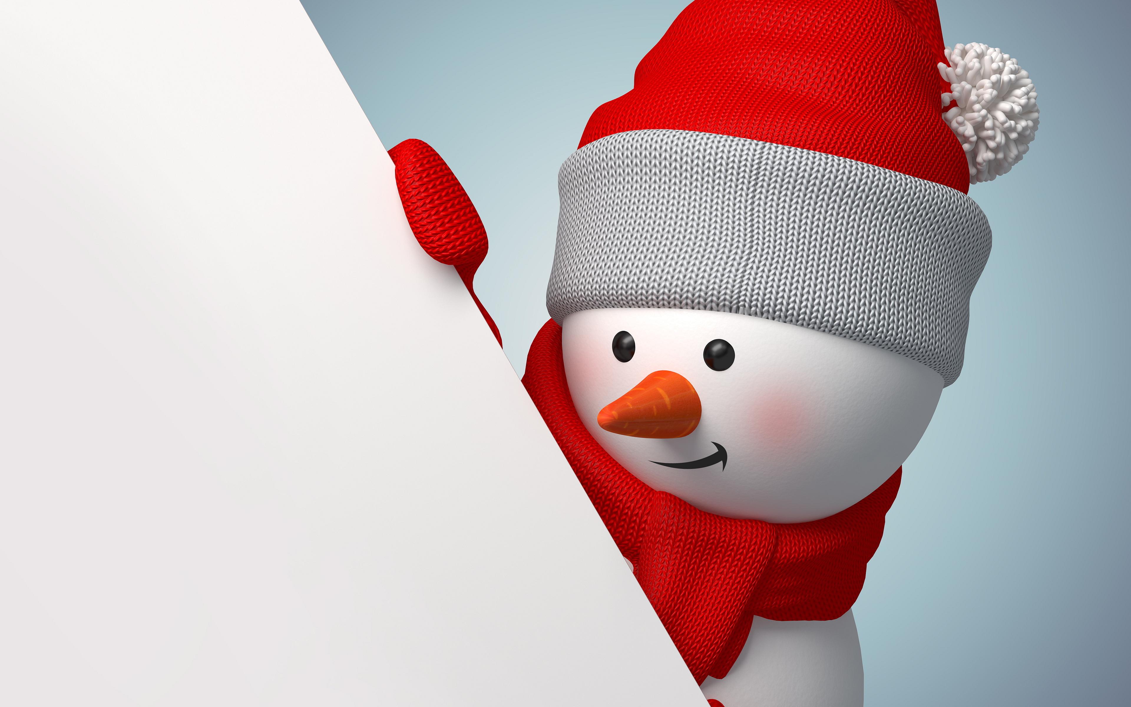 3d snowman widescreen wallpaper 52515