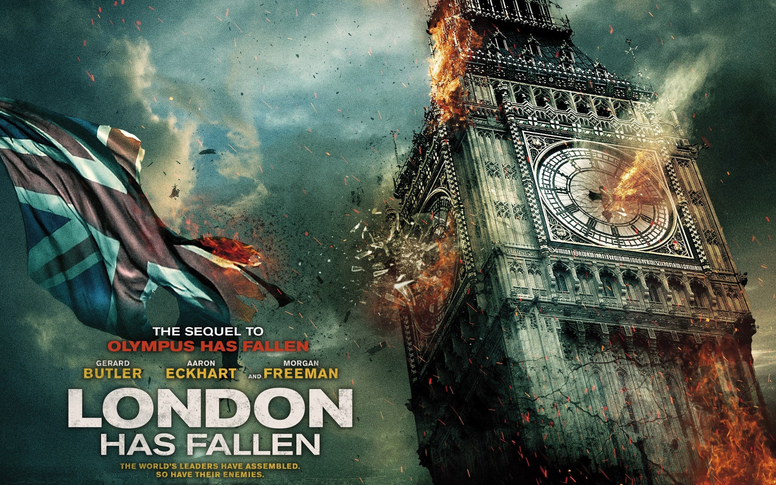 london has fallen movie wallpaper background 52336 2560x1600 px