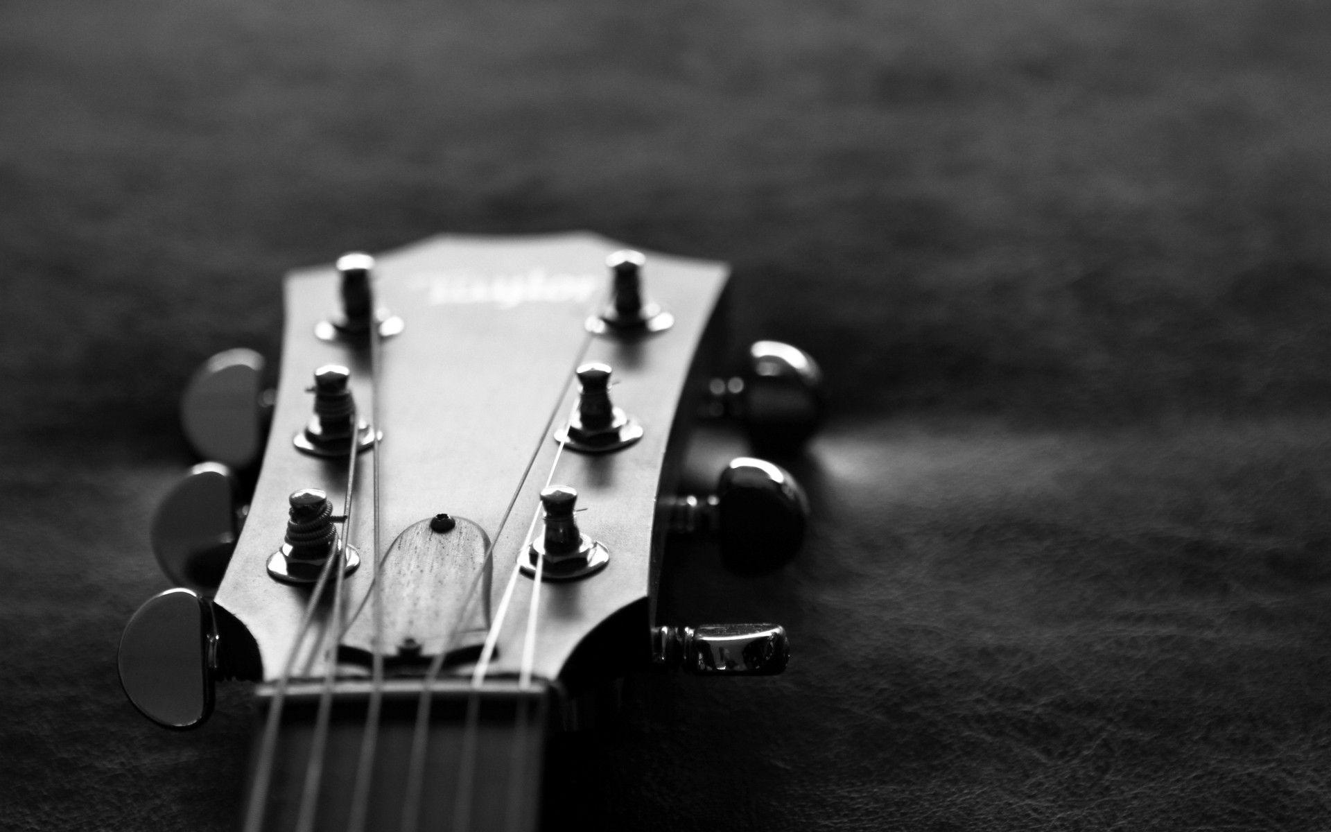 monochrome guitar wallpaper 58779