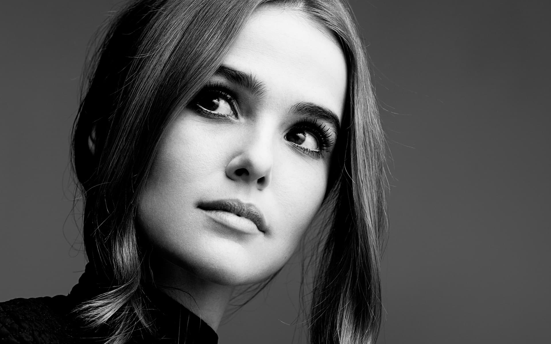 monochrome zoey deutch wallpaper 55403