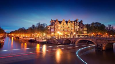 Amsterdam City Night Wallpaper 52514