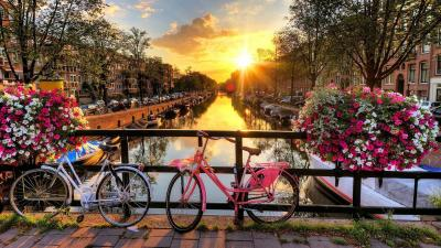 Amsterdam City Sunrise Wallpaper 52512