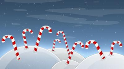 Candy Cane Art Computer Wallpaper 52142
