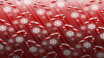 Candy Cane Art Holiday Wallpaper 52143