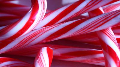 Candy Cane Up Close Wallpaper Background 52139