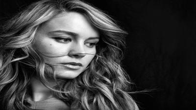 Monochrome Brie Larson Wallpaper 55323
