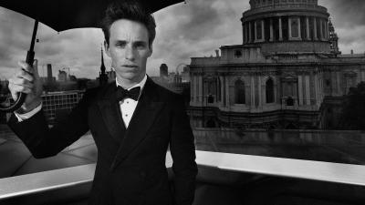 Monochrome Eddie Redmayne Wallpaper 56796