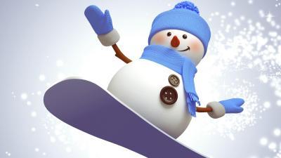 Snowboarding Snowman Wallpaper 52521
