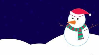 Snowman Digital Art Wallpaper 52527