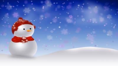 Snowman Wide Wallpaper 52520