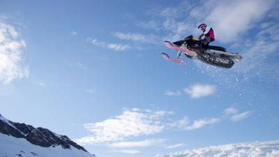 Snowmobile Jump Wallpaper 53618