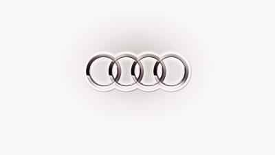 White Audi Logo Wallpaper 58770