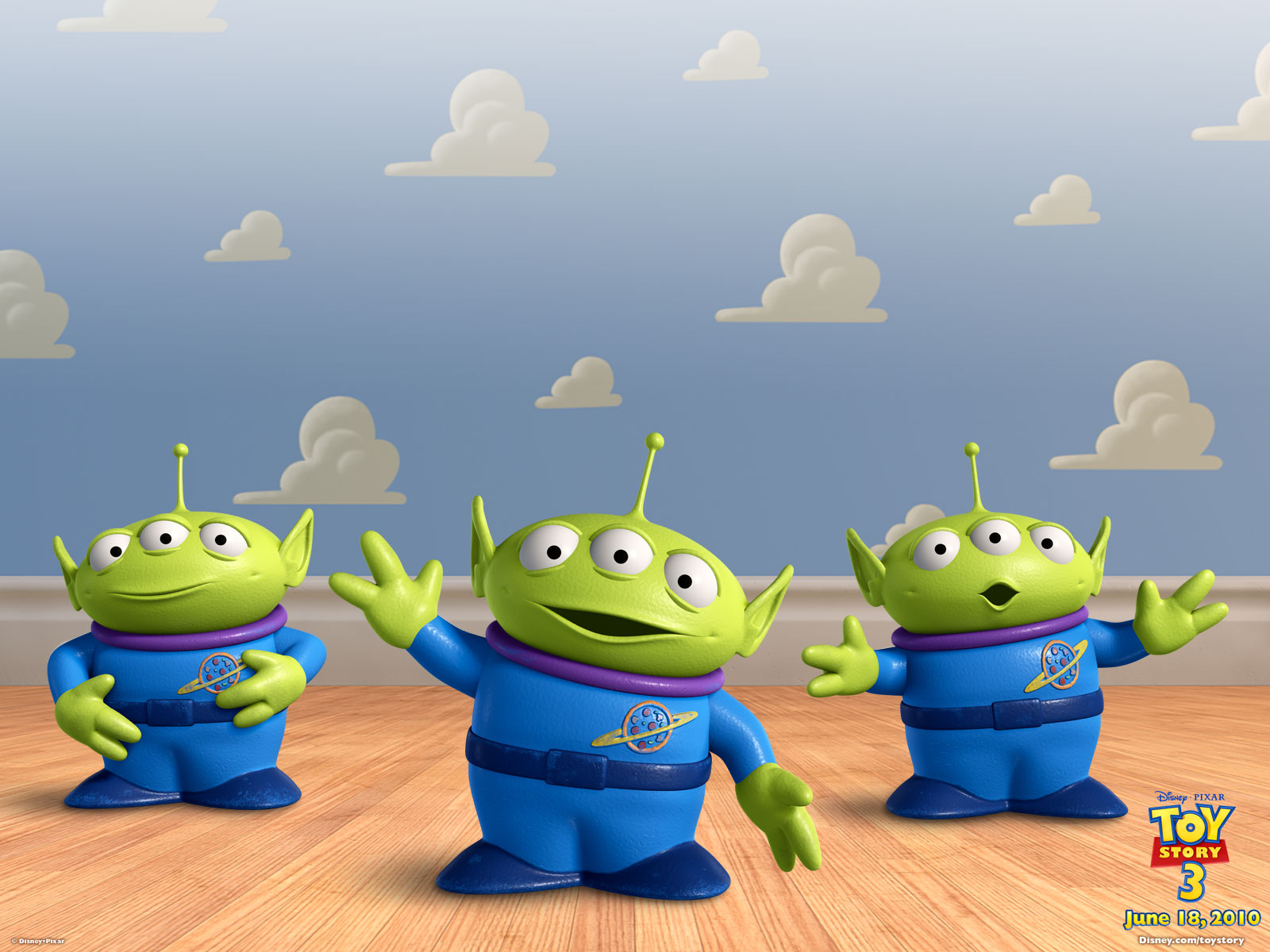 toy story little green men wallpaper 49251