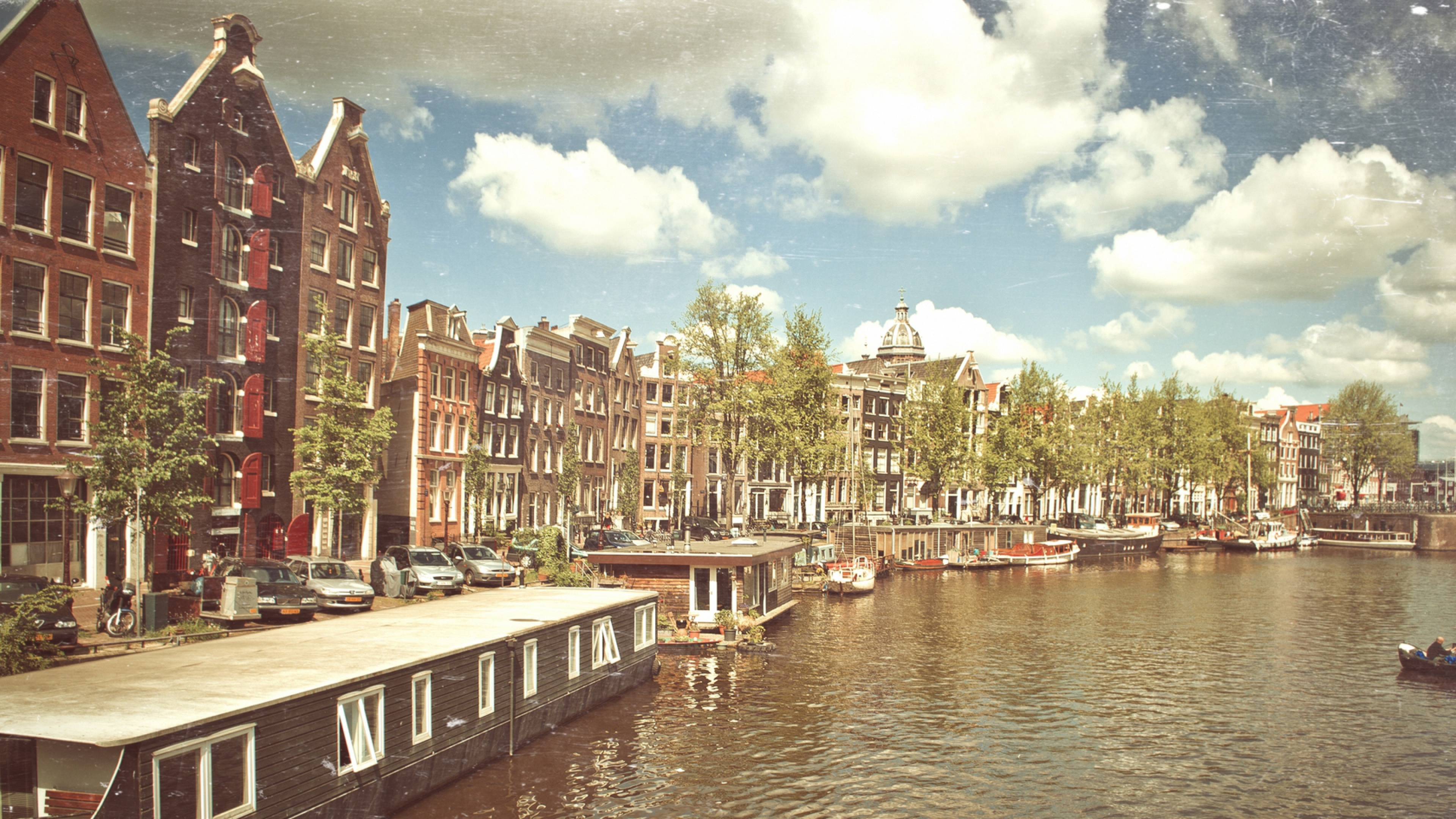 vintage amsterdam widescreen wallpaper 52506