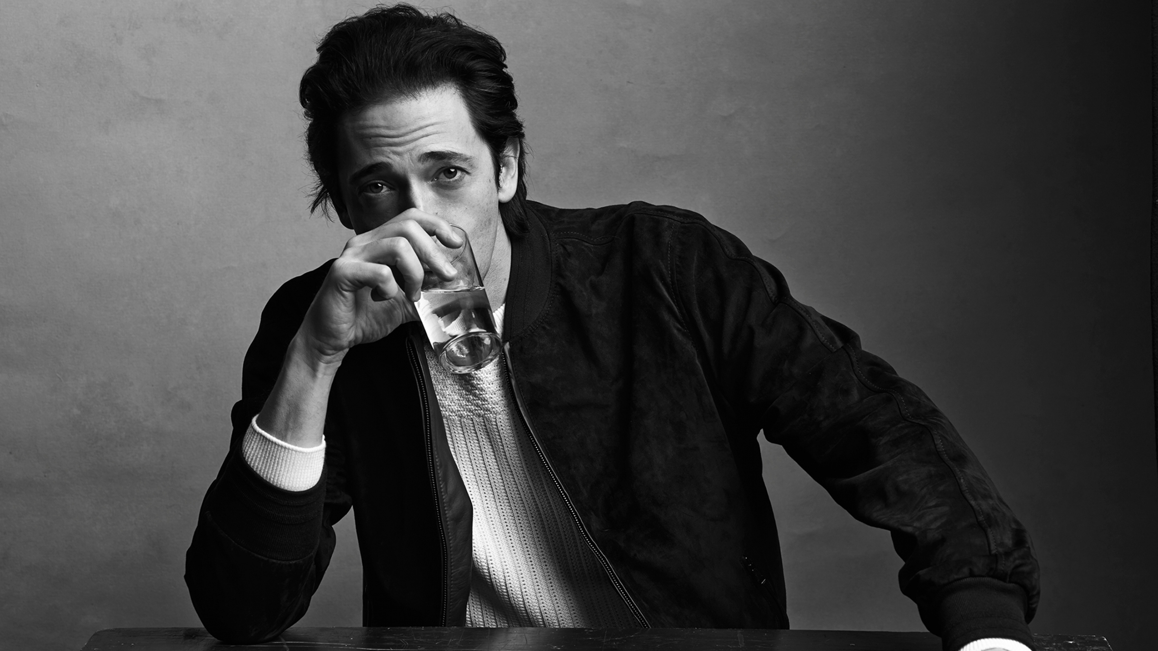 monochrome adrien brody widescreen wallpaper 57557