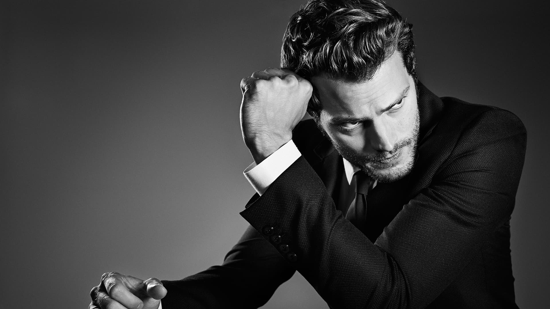 monochrome jamie dornan wallpaper 57427