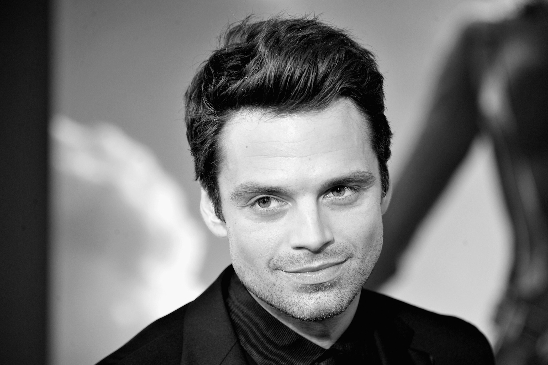 monochrome sebastian stan wallpaper 57268
