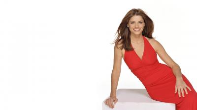 Amanda Peet Red Dress Wallpaper 53474