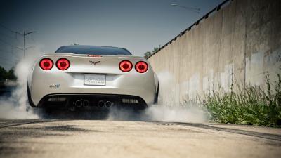Chevrolet Corvette Car Burnout Wallpaper 51706