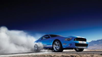 Ford Mustang Car Burnout Wallpaper 51705